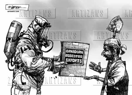 Caricature Canada's asbestos industry