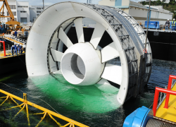Tidal turbine.  Photo: eandemanagement.com