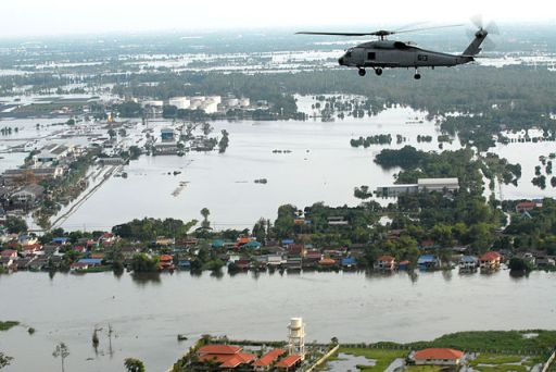 Flooding in Thailand.  Photo: Petty Officer 1st Class Jennifer Villalovos.