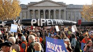 Protests against the Keystone XL pipeline.  Photo: globeandmail.com