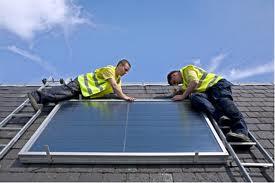 Solar panel installation.  Photo: solarpowerbuzzmedia-com.