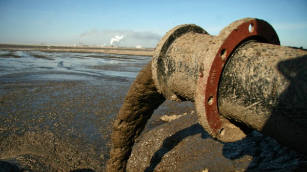 What taillings ponds are made of.  That used to be fresh water.  Photo: The Globe and Mail.