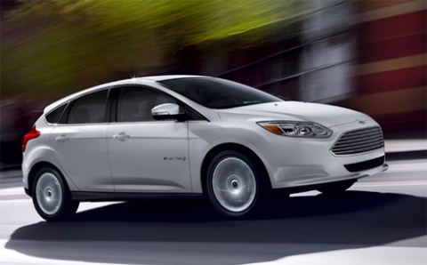 Ford Focus Electric.  Photo: Climate Denial Crock of the Week.