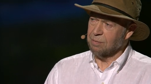 "James Hansen.  Screen shot from the TED Talk ""Why I must speak out about climate change""."