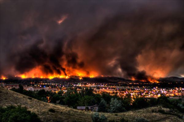 Record forest fires in Colorado.  Image: survivalistboards.com