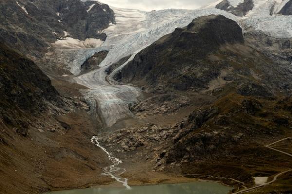 Stein Glacier, Switzerland, 17 September 2011. James Balog.