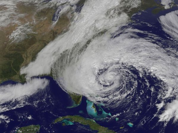 Hurricane Sandy.
