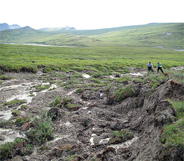 Melting permafrost.  Picture: Penn State Institute of Energy and the Environment.